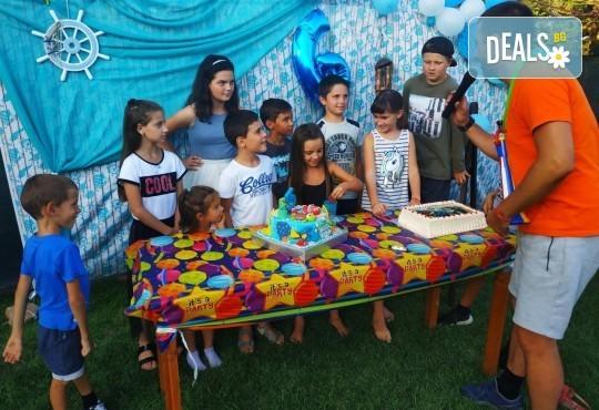 Футболно парти за детски рожден ден с много забавни игри на отбори, професионален треньор и музикална апаратура от Детски център Щастливи деца - Снимка 11