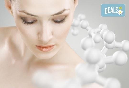 Терапия със 100% органични продукти, фитостволови клетки и биохимичен пилинг с колаген срещу пигментни петна, акнетична и проблемна кожа и фини бръчки и белези в Енигма - Снимка 4