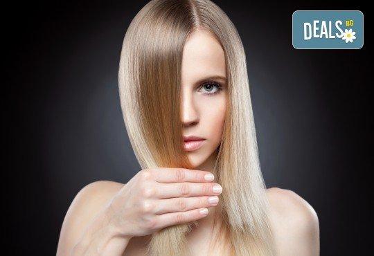 За красива и здрава коса! Подстригване, арганова терапия и оформяне със сешоар тип подсушаване в Beauty Salon Tesori - Снимка 3
