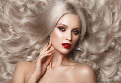 Красива и блестяща коса! Подстригване, боядисване с боя на клиента, маска за запазване на цвета и оформяне със сешоар тип подсушаване в Beauty Salon Tesori - Снимка