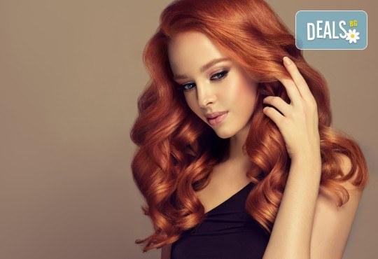 Красива и блестяща коса! Подстригване, боядисване с боя на клиента, маска за запазване на цвета и оформяне със сешоар тип подсушаване в Beauty Salon Tesori - Снимка 3