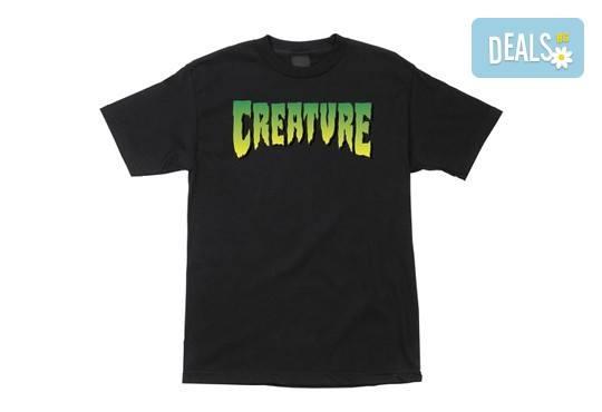 Черна тениска с пълноцветен печат и дизайн по избор от Хартиен свят
