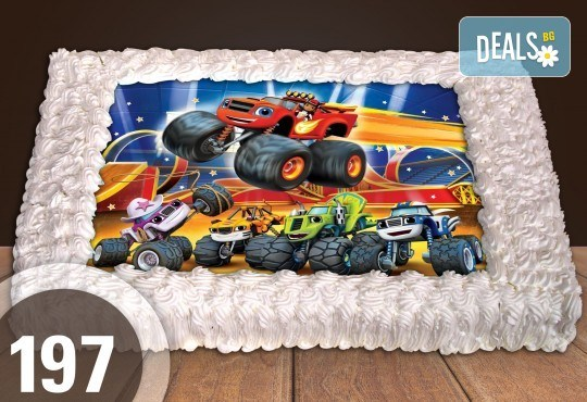 За най-малките! Голяма торта със снимка 20, 25 или 30 парчета за празника на Вашето дете с герой от филмче от Сладкарница Джорджо Джани - Снимка 12