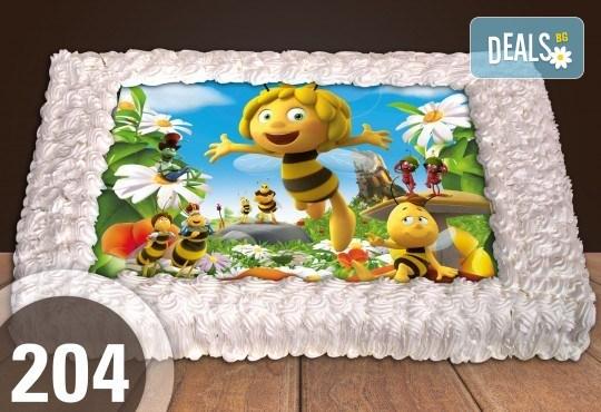 За най-малките! Голяма торта със снимка 20, 25 или 30 парчета за празника на Вашето дете с герой от филмче от Сладкарница Джорджо Джани - Снимка 29