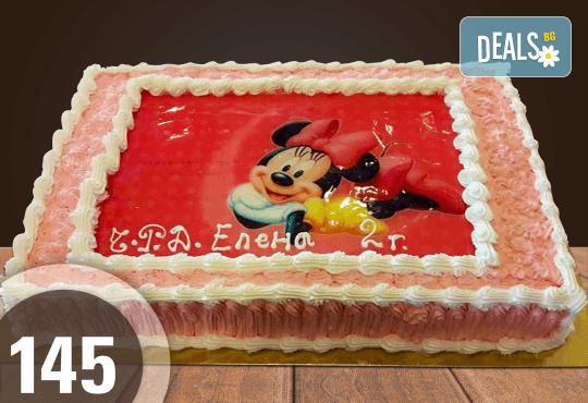 За най-малките! Голяма торта със снимка 20, 25 или 30 парчета за празника на Вашето дете с герой от филмче от Сладкарница Джорджо Джани - Снимка 26
