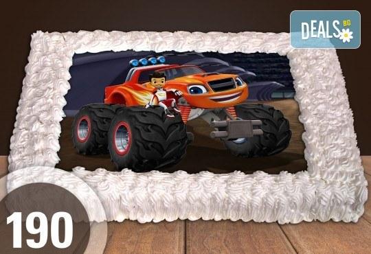 За момче! Торти за момчета: вземете голяма торта 20/ 25/ 30 парчета със снимка на герои от любимите детски филмчета - Нинджаго, Костенурките Нинджа, Спайдърмен и други от Сладкарница Джорджо Джани - Снимка 13