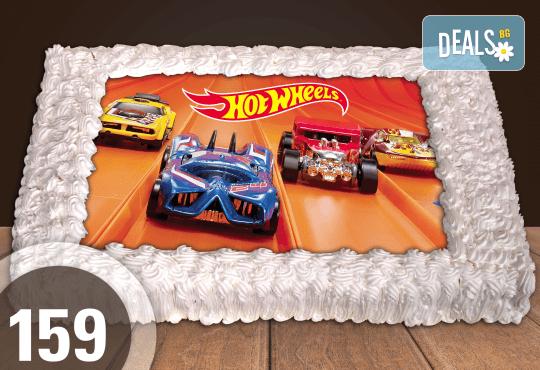 Голяма детска торта 20, 25 или 30 парчета със снимка на любим герой от Сладкарница Джорджо Джани - Снимка 56