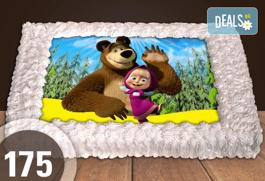 Голяма детска торта 20, 25 или 30 парчета със снимка на любим герой от Сладкарница Джорджо Джани - Снимка 66
