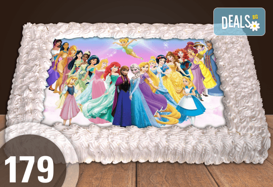 Голяма детска торта 20, 25 или 30 парчета със снимка на любим герой от Сладкарница Джорджо Джани - Снимка 70