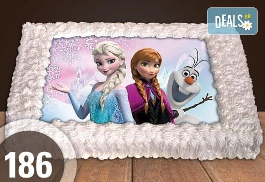 Голяма детска торта 20, 25 или 30 парчета със снимка на любим герой от Сладкарница Джорджо Джани - Снимка 77