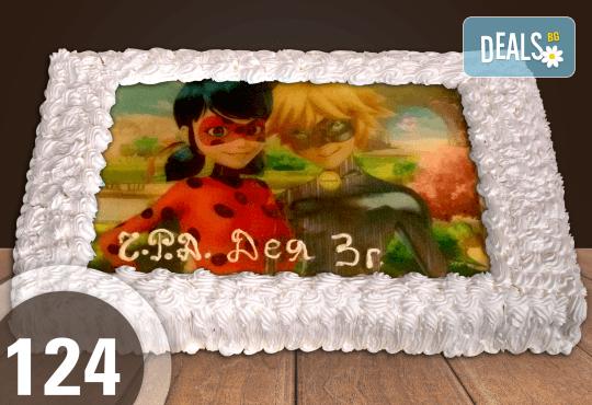 Голяма детска торта 20, 25 или 30 парчета със снимка на любим герой от Сладкарница Джорджо Джани - Снимка 21