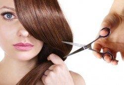 Нова прическа! Подстригване с гореща ножица (терапия), маска с арганово масло и прав сешоар в Салон за красота B Beauty - Снимка