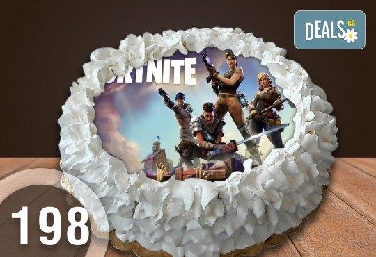 Детска торта с 12 парчета с крем и какаови блатове + детска снимка или снимка на клиента, от Сладкарница Джорджо Джани - Снимка 25