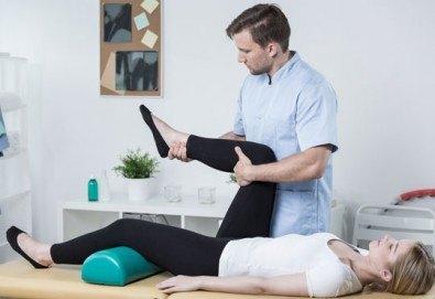 70-минутен лечебен масаж на цяло тяло при травматични, ортопедични, неврологични, ставни заболявания и преглед от професионален физиотерапевт + лазертерапия или инверсионна терапия в студио Samadhi - Снимка