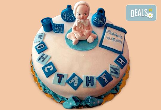 Честито бебе! Торта за изписване от родилния дом, за 1-ви рожден ден или за прощъпулник, специална оферта на Сладкарница Джорджо Джани - Снимка 8