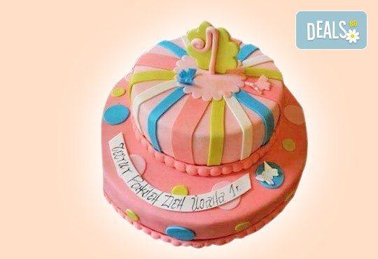 Честито бебе! Торта за изписване от родилния дом, за 1-ви рожден ден или за прощъпулник, специална оферта на Сладкарница Джорджо Джани - Снимка 29