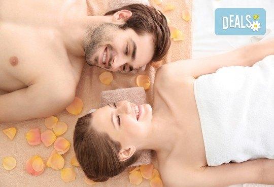 Светът е за двама! 60-минутен релаксиращ масаж на цяло тяло за двойки и бонус: масаж на лице от студио за красота Giro - Снимка 2