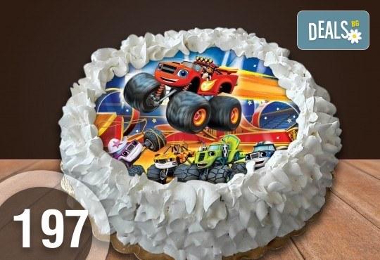 Детска торта с 12 парчета с крем и какаови блатове + детска снимка или снимка на клиента, от Сладкарница Джорджо Джани - Снимка 24