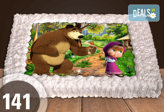 Голяма детска торта 20, 25 или 30 парчета със снимка на любим герой от Сладкарница Джорджо Джани - Снимка 37