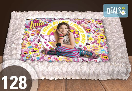 Голяма детска торта 20, 25 или 30 парчета със снимка на любим герой от Сладкарница Джорджо Джани - Снимка 22