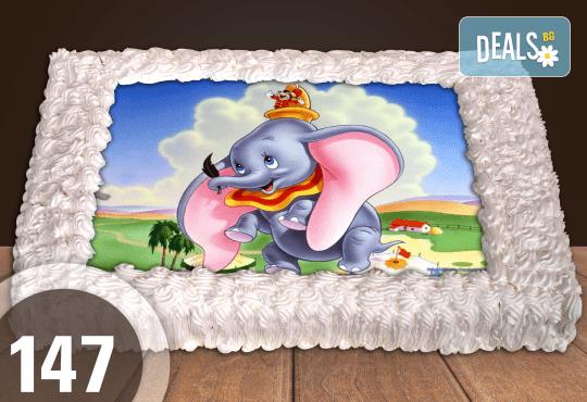 Голяма детска торта 20, 25 или 30 парчета със снимка на любим герой от Сладкарница Джорджо Джани - Снимка 45