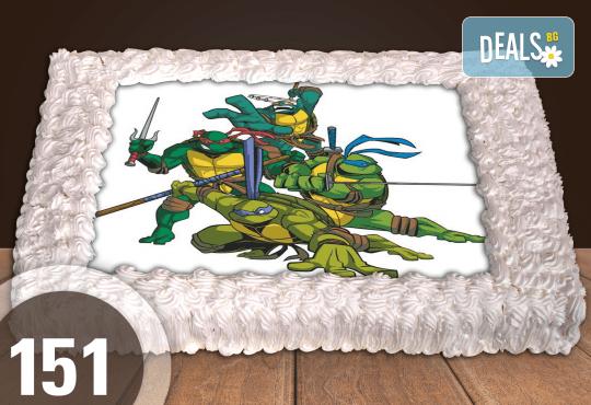 Голяма детска торта 20, 25 или 30 парчета със снимка на любим герой от Сладкарница Джорджо Джани - Снимка 52