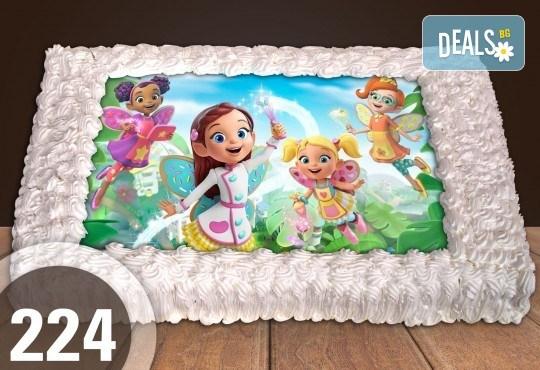 Голяма детска торта 20, 25 или 30 парчета със снимка на любим герой от Сладкарница Джорджо Джани - Снимка 4