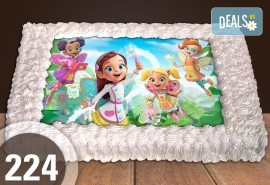 За най-малките! Голяма торта със снимка 20, 25 или 30 парчета за празника на Вашето дете с герой от филмче от Сладкарница Джорджо Джани - Снимка 4