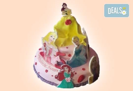 За момичета! Красиви 3D торти за момичета с принцеси и приказни феи + ръчно моделирана декорация от Сладкарница Джорджо Джани - Снимка 26