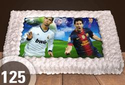 За феновете на спорта! Торта със снимка за почитателите на футбола или други спортове от Сладкарница Джорджо Джани - Снимка