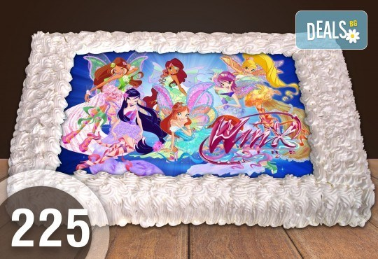 Експресна торта от днес за днес! Голяма детска торта 20, 25 или 30 парчета със снимка на любим герой от Сладкарница Джорджо Джани - Снимка 6