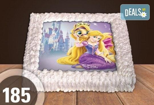 Експресна торта от днес за днес! Голяма детска торта 20, 25 или 30 парчета със снимка на любим герой от Сладкарница Джорджо Джани - Снимка 3