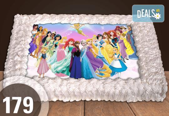 Експресна торта от днес за днес! Голяма детска торта 20, 25 или 30 парчета със снимка на любим герой от Сладкарница Джорджо Джани - Снимка 1