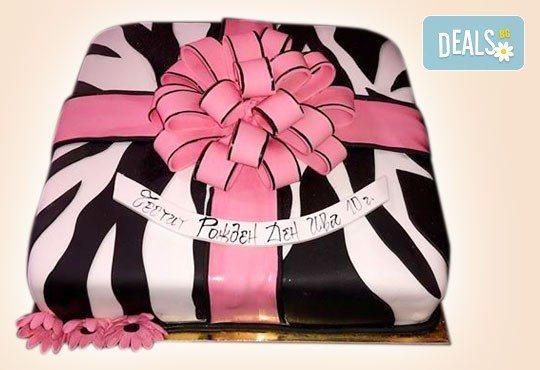Торта с цветя! Празнична 3D торта с пъстри цветя, дизайн на Сладкарница Джорджо Джани - Снимка 6