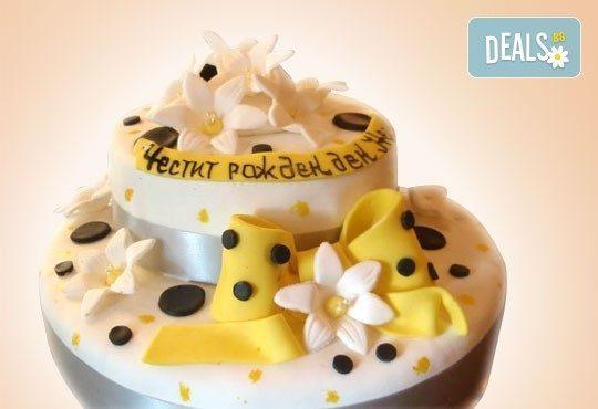 Торта с цветя! Празнична 3D торта с пъстри цветя, дизайн на Сладкарница Джорджо Джани - Снимка 30