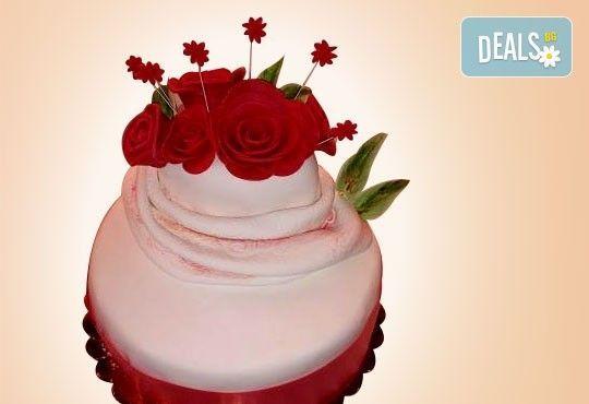 Торта с цветя! Празнична 3D торта с пъстри цветя, дизайн на Сладкарница Джорджо Джани - Снимка 5
