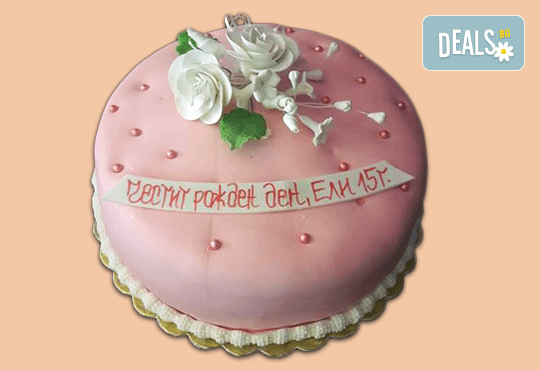 Торта с цветя! Празнична 3D торта с пъстри цветя, дизайн на Сладкарница Джорджо Джани - Снимка 15