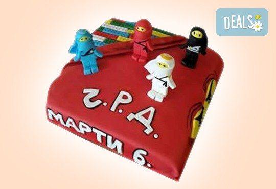 За момчета! Детска 3D торта за момчета с коли и герои от филмчета с ръчно моделирана декорация от Сладкарница Джорджо Джани - Снимка 33