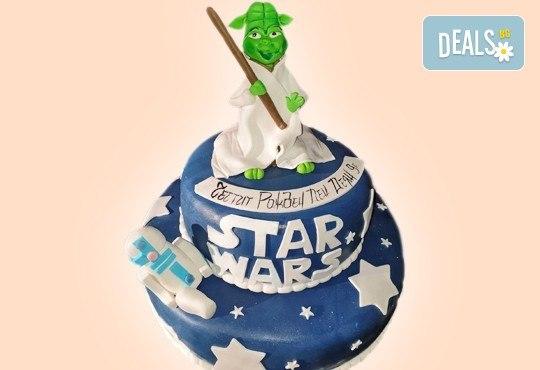 За момчета! Детска 3D торта за момчета с коли и герои от филмчета с ръчно моделирана декорация от Сладкарница Джорджо Джани - Снимка 24