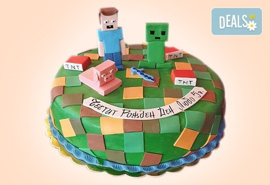 За момчета! Детска 3D торта за момчета с коли и герои от филмчета с ръчно моделирана декорация от Сладкарница Джорджо Джани - Снимка 1