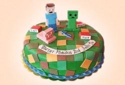 За момчета! Детска 3D торта за момчета с коли и герои от филмчета с ръчно моделирана декорация от Сладкарница Джорджо Джани - Снимка