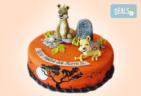За момчета! Детска 3D торта за момчета с коли и герои от филмчета с ръчно моделирана декорация от Сладкарница Джорджо Джани - Снимка 9