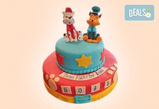 За момчета! Детска 3D торта за момчета с коли и герои от филмчета с ръчно моделирана декорация от Сладкарница Джорджо Джани - Снимка 18