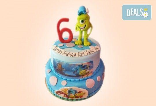 За момчета! Детска 3D торта за момчета с коли и герои от филмчета с ръчно моделирана декорация от Сладкарница Джорджо Джани - Снимка 3