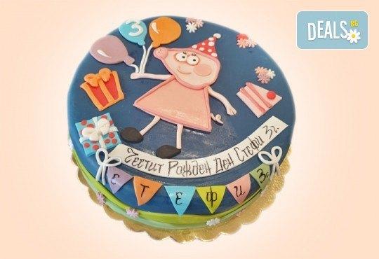 За момчета! Детска 3D торта за момчета с коли и герои от филмчета с ръчно моделирана декорация от Сладкарница Джорджо Джани - Снимка 46