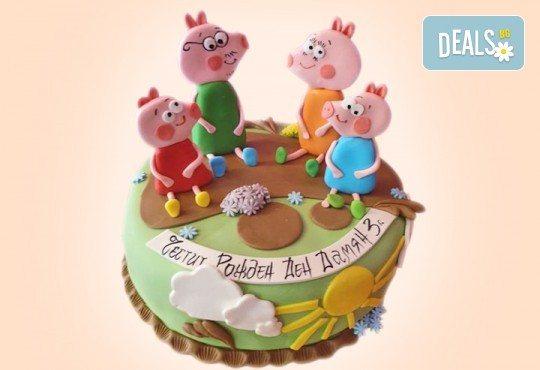 За момчета! Детска 3D торта за момчета с коли и герои от филмчета с ръчно моделирана декорация от Сладкарница Джорджо Джани - Снимка 47