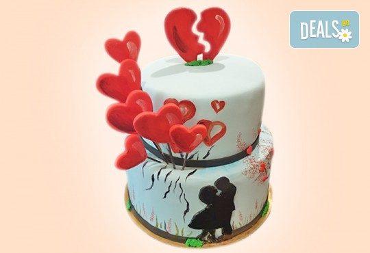 Смърфове, Миньони & Brawl stars! Голяма детска 3D торта 37 ПАРЧЕТА с фигурална ръчно изработена декорация от Сладкарница Джорджо Джани - Снимка 2