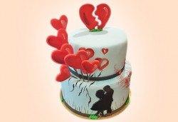 Смърфове, Миньони & Brawl stars! Голяма детска 3D торта 37 ПАРЧЕТА с фигурална ръчно изработена декорация от Сладкарница Джорджо Джани - Снимка