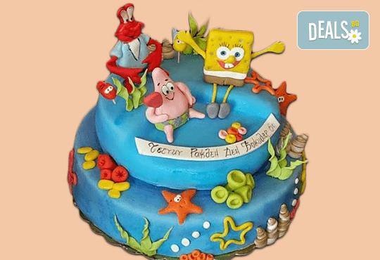 Смърфове, Миньони & Brawl stars! Голяма детска 3D торта 37 ПАРЧЕТА с фигурална ръчно изработена декорация от Сладкарница Джорджо Джани - Снимка 18