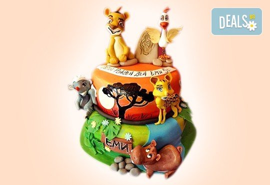 Смърфове, Миньони & Brawl stars! Голяма детска 3D торта 37 ПАРЧЕТА с фигурална ръчно изработена декорация от Сладкарница Джорджо Джани - Снимка 1